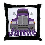 Trucker Jamie Throw Pillow