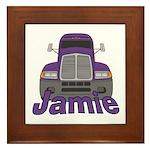 Trucker Jamie Framed Tile