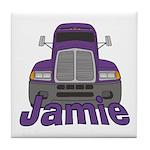 Trucker Jamie Tile Coaster
