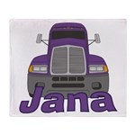 Trucker Jana Throw Blanket
