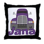 Trucker Jana Throw Pillow