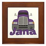 Trucker Jana Framed Tile