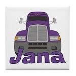 Trucker Jana Tile Coaster