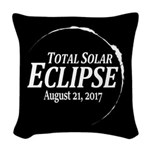 Eclipse 2017 Woven Throw Pillow