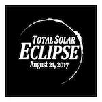 Eclipse 2017 Square Car Magnet 3