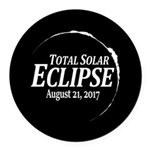 Eclipse 2017 Round Car Magnet