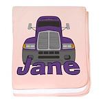 Trucker Jane baby blanket