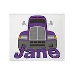 Trucker Jane Throw Blanket