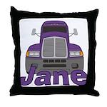 Trucker Jane Throw Pillow