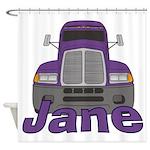 Trucker Jane Shower Curtain