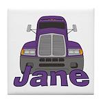 Trucker Jane Tile Coaster