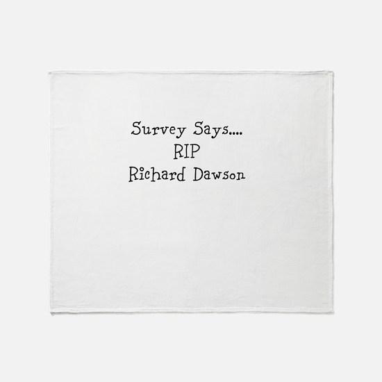 rip_richard_dawson Throw Blanket