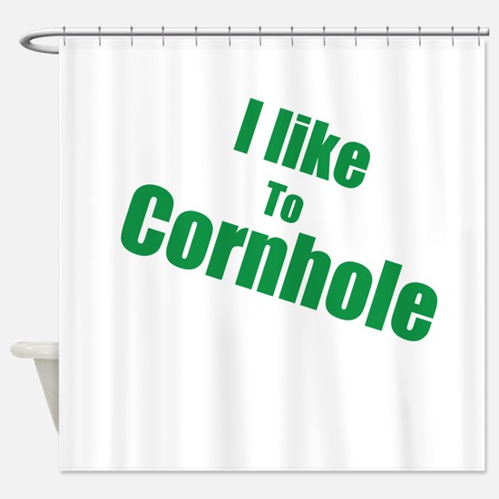 I Like To Cornhole Shower Curtain