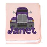 Trucker Janet baby blanket