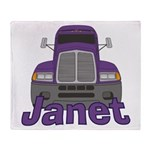 Trucker Janet Throw Blanket