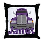 Trucker Janet Throw Pillow