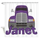 Trucker Janet Shower Curtain