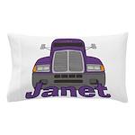 Trucker Janet Pillow Case