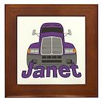Trucker Janet Framed Tile