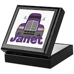 Trucker Janet Keepsake Box