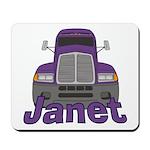 Trucker Janet Mousepad
