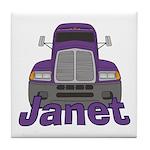 Trucker Janet Tile Coaster