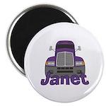Trucker Janet Magnet
