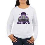 Trucker Janice Women's Long Sleeve T-Shirt