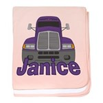Trucker Janice baby blanket