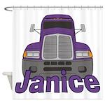 Trucker Janice Shower Curtain