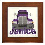 Trucker Janice Framed Tile