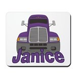 Trucker Janice Mousepad
