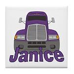 Trucker Janice Tile Coaster