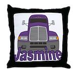 Trucker Jasmine Throw Pillow