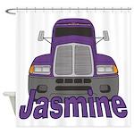 Trucker Jasmine Shower Curtain