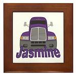 Trucker Jasmine Framed Tile