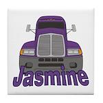 Trucker Jasmine Tile Coaster