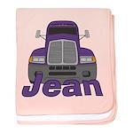 Trucker Jean baby blanket
