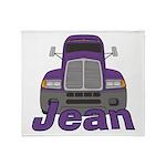 Trucker Jean Throw Blanket
