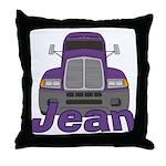 Trucker Jean Throw Pillow