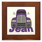 Trucker Jean Framed Tile