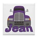 Trucker Jean Tile Coaster