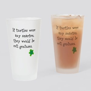 Smart turtles Drinking Glass