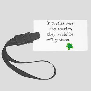 Smart turtles Large Luggage Tag