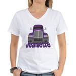 Trucker Jeanette Women's V-Neck T-Shirt