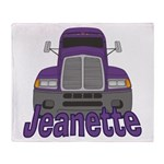 Trucker Jeanette Throw Blanket
