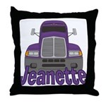 Trucker Jeanette Throw Pillow