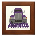 Trucker Jeanette Framed Tile