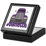 Trucker Jeanette Keepsake Box