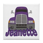 Trucker Jeanette Tile Coaster